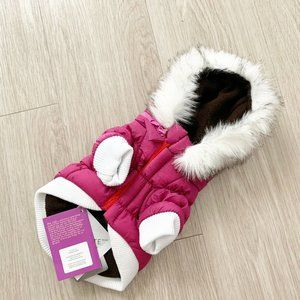 Pet Life Dog Jacket Classic Parka Hooded XS Pink